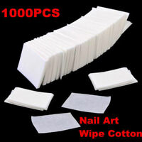 1000 Nail Polish Remover Cleaner Wipes Acrylic UV Gel Tips Cotton Pads Lint Free