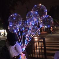 10x 12/18'' Balloons Light Up Wave Ball Helium Toy Wedding  Birthday Party Decor