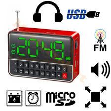 REVEIL HORLOGE NOMAD AVEC RADIO LECTEUR USB CARTE MICROSD SUR BATTERIE R