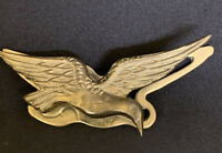 Vintage Brass Bird Desk Paper Wall Clip Paper Weight Action Taiwan