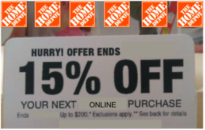 15% off Home Depot Coupon - Save up to $200 Exp. 2/7/2021