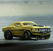Aurora Tjet Ford Mach 1 Mustang (#1415) & 70's Open Rivet Chassis +nw/rears!