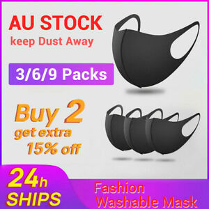 9 Pack Washable Unisex Face Mask Mouth Masks Protective Face Cover Reusable
