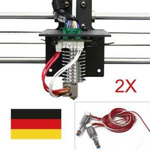 2 pics V5 J-head Hot End 0.4mm / 1.75mm für Anycubic I3 Mega 3D Drucker Extruder