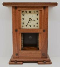 Arts & Crafts Clock Greene Inspired Mahogany Finish for 4x4 Motawi Tile or other