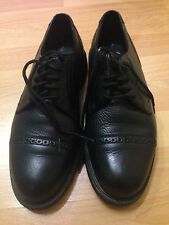 FLORSHEIM  MENS BLACK  LOAFERS SHOES SIZE 9 1/2 , PREOWNED!!!   KAFI
