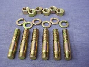 BMC 'A' Series H/T Zinc & Colour Plated Exhaust/Inlet Manifold Stud Kit (6)