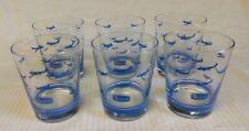 Lot of 6 Vintage Beechcraft Airplane Drinking Glasses Tumblers Barware Libbey