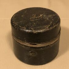 Antique Inkwell Travel Inkwell Victorian 1880s 19th Century Black Leather Ornate