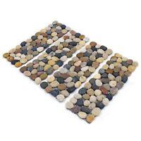 Pack Of 4 Pebble Stone Border Garden Patio Lawn Path Decor Edging Strips Wall