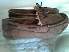 Boys BASS MOCCASIN Slippers Size 3 Youth