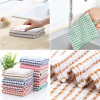 Pack Of 3-12  Cotton Tea Towels Set Kitchen Dish Cloths Cleaning Drying