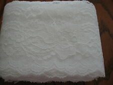 Lace trim #444 Raschel 4 inch flat IVORY scalloped edge polyester trim 20 yd.bag