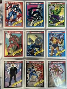 1990 1991 Marvel Universe Series 1 & 2 Complete Set! Includes holograms! Extras!