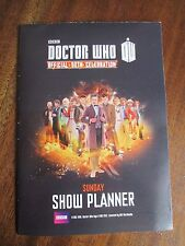 BBC DR WHO OFFICIAL 50TH CELEBRATION SHOW PLANNER AT THE EXCEL
