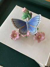 Lenox Adonis Blue Nature's Beautiful Butterflies Collection Porcelain Figurine