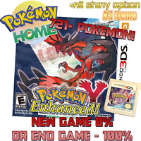 Pokemon Y - Loaded With All 721 + Legit Event Pokemon Enhanced - Nintendo 3ds