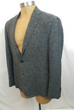 BILLY REID Gray White Flecked Light Tweed Jacket 3 Roll 44R Sleeves Long