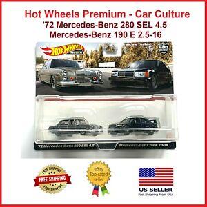 Hot Wheels Premium Car Culture 72 Mercedes-Benz 280 & Mercedes-Benz 190 (2 Pack)