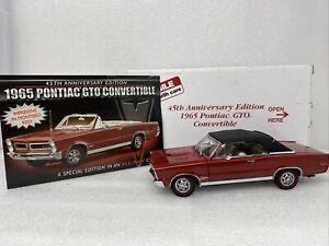 1/24 Danbury Mint 1965 Pontiac GTO Convertible Red 45 Anniversary  Edition READ