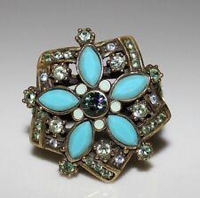"HEIDI DAUS ""Breathless Flower"" RING Swarovski Crystal Rhinestone Size 12"