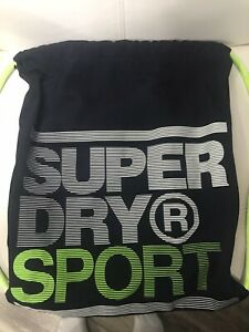 NEW SUPERDRY DRAWSTRING-BACKPACK NAVY & LIME