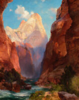 Southern Utah Landscape Thomas Moran Fine Art Print on Canvas Giclee Repro Small