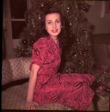 Tamara Toumanova Russian Ballerina Actress Christmas tree Original Transparency