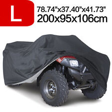 L 190T Waterproof ATV UTV Cover Universal Fit Polaris Honda Yamaha Can-Am Suzuki