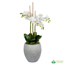 Artificial Fake Plants Janlyn White Orchid Arrangement 1.05m