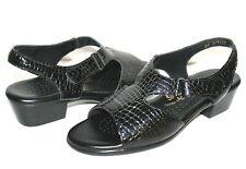 ✿ SAS Tripad Comfort Croc-Embossed Patent Leather Sandal 10 N EXCELLENT! L@@K!05