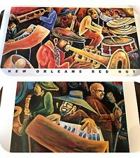 Lot Of 2 Jamar Pierre New Orleans Music Giclée Prints Signed Limited Edition!
