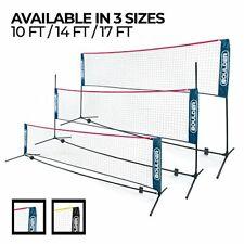 Boulder Portable Badminton Net Set - Net for Tennis, Soccer 17-FT NavyBlue-Red