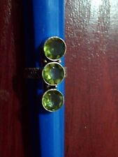 3CM LING/STERLING SILVER PLATE/FAUX PERIDOT/RING/SIZE P