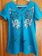 Katydid Womens Short Sleeved Shirts - Size M - Lot of 2 - Pink and Blue