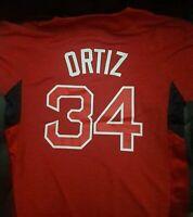 David Ortiz Boston Red Sox Majestic shirt MLB baseball Jersey NEW : [ Youth XL ]