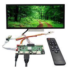 "HD MI DVI VGA LCD Controller Board 12.3"" 1920x720 HSD123KPW1 Tepered Glass LCD"