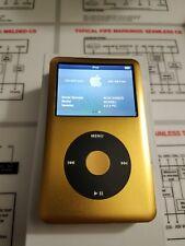 Apple iPod Classic Custom Gold!- Thick Back (256gb) SSD! 8th gen!