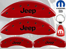 MGP Caliper Cover Black Fill on Red Paint For 1997 - 2010 Jeep Wrangler