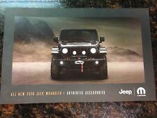 2018 JEEP WRANGLER ACCESSORIES 26-page Original Sales Brochure