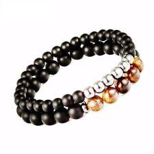 Unisex Tiger Eyes Beaded Bracelet Black Mantra Prayer Beads Buddha Trendy Gifts