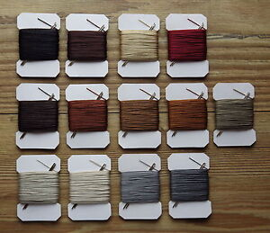 20m VERY STRONG  LEATHER SEWING THREAD 0,75mm THICK PLUS 2 BLUNT NEEDLES