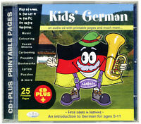 KIDS' GERMAN (CD, audio & rom) First Language learning for age 5+ NEW & WRAPPED