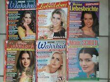 6 Frauenzeitschriften / Konvolut: meine Schuld , meine Wahrheit ...