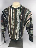 RARE 90s Vtg COOGI Australia Natural-BIGGIE Cosby sweater EUC FIRE L VAPORWAVE