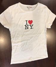 I Love NY New York Heart Youth Girl's T-Shirt  Short Sleeve Crew White L