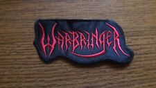 WARBRINGER,SEW ON RED EMBROIDERED PATCH