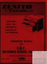 Farmall Zenith Carburetor 61 161 Tractor Service Manual