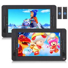 2 x 10.1 pulgadas portátil DVD Player televisor TV auto reposacabezas moniter batería USB