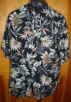 Campia Moda Short Sleeve Hawaiian Tropical Shirt ~ 100% Rayon ~ Size L